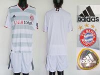 Bayern Blank White New Style Away Soccer Club Jersey