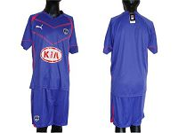 Bordeaux Blank Blue Away Soccer Club Jersey