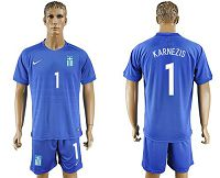 Greece #1 Karnezis Away Soccer Country Jersey