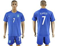 Greece #7 Karelis Away Soccer Country Jersey