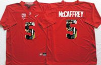 Stanford Cardinal #5 Christian McCaffrey Red Player Fashion Stitched NCAA Jersey