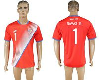 Costa Rica #1 Navas K. Home Soccer Country Jersey