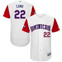 Team Dominican Republic #22 Robinson Cano White 2017 World Baseball Classic Authentic Stitched MLB Jersey