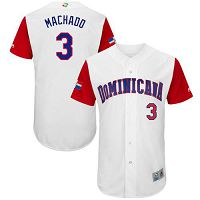 Team Dominican Republic #3 Manny Machado White 2017 World Baseball Classic Authentic Stitched MLB Jersey