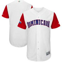 Team Dominican Republic Blank White 2017 World Baseball Classic Authentic Stitched MLB Jersey