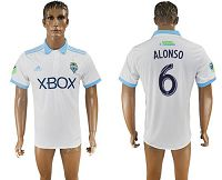 Seattle Sounders #6 Alonso Away Soccer Club Jersey