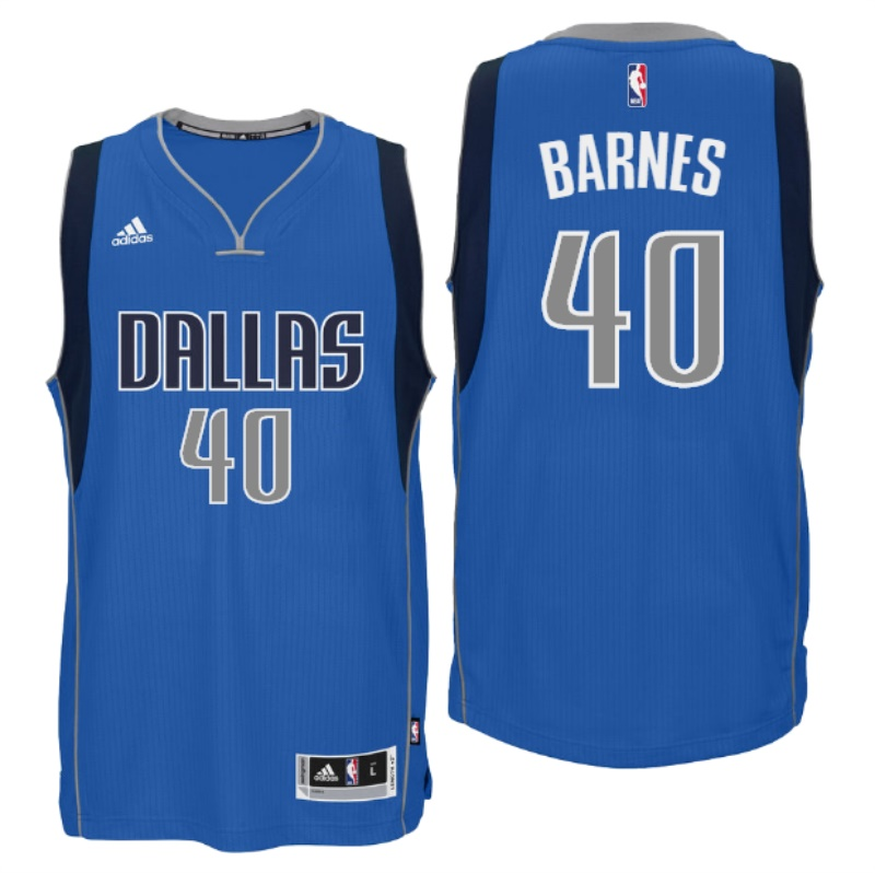 NBA Dallas Mavericks #40 Harrison Barnes Blue Jersey