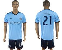 New York City #21 Pirlo Home Soccer Club Jersey