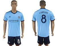 New York City #8 Lampard Home Soccer Club Jersey