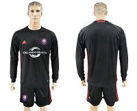 Orlando City SC Blank Black Long Sleeves Goalkeeper Soccer Club Jersey