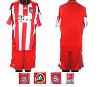 Bayern Blank Red White Strip Home Soccer Club Jersey