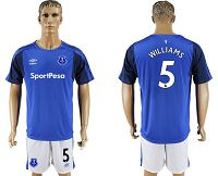 Everton #5 Williams Home Soccer Club Jersey