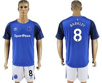 Everton #8 Barkley Home Soccer Club Jersey
