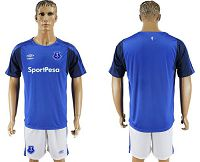 Everton Blank Home Soccer Club Jersey