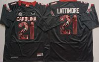 South Carolina Fighting Gamecocks #21 Marcus Lattimore Black Player Fashion Stitched NCAA Jersey