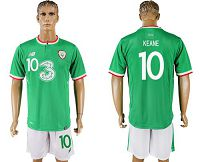 Ireland #10 Keane Home Soccer Country Jersey