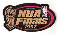 Stitched 1997 NBA Finals Jersey Patch Chicago Bulls Utah Jazz