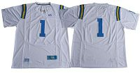 UCLA Bruins No.1 Fans White Under Armour Premier Stitched NCAA Jersey
