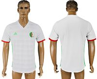 Algeria Blank White Home Soccer Country Jersey