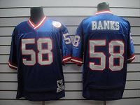 Men's Mitchell and Ness New York Giants #58 Carl Banks White Stitched NFL Jersey