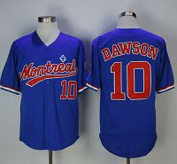 Mitchell And Ness BP Expos #10 Andre Dawson Blue Throwback Stitched MLB Jersey