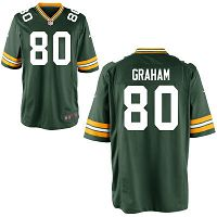 Men's Green Bay Packers #80 Jimmy Graham Green Game Jersey