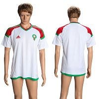 Morocco Blank Away Soccer Country Jersey