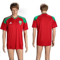 Morocco Blank Home Soccer Country Jersey