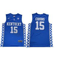 Men's Kentucky Wildcats #15 DeMarcus Cousins Royal Blue Nike NCAA College Basketball Jersey