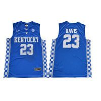 Men's Kentucky Wildcats #23 Anthony Davis Royal Blue Nike NCAA College Basketball Jersey