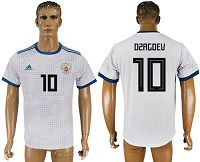 Russia #10 Dzagoev Away Soccer Country Jersey