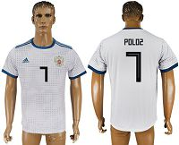 Russia #7 Poloz Away Soccer Country Jersey