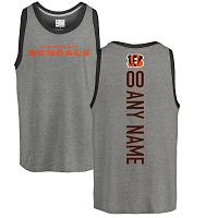 Cincinnati Bengals Men's NFL Pro Line By Fanatics Branded Personalized Backer Tri-Blend Ash Customized Tank Top