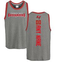 Tampa Bay Buccaneers Men's NFL Pro Line By Fanatics Branded Personalized Backer Tri-Blend Ash Customized Tank Top