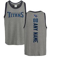 Tennessee Titans Men's NFL Pro Line By Fanatics Branded Personalized Backer Tri-Blend Ash Customized Tank Top