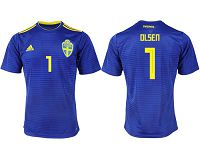 Sweden #1 Olsen Away Soccer Country Jersey