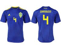 Sweden #4 Granqvist Away Soccer Country Jersey