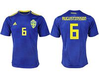 Sweden #6 Augustinsson Away Soccer Country Jersey