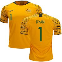Australia #1 Ryan Home Soccer Country Jersey