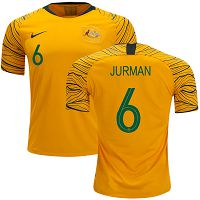 Australia #6 Jurman Home Soccer Country Jersey