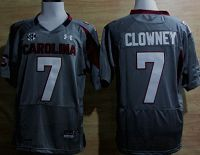 South Carolina Gamecocks #7 Jadeveon Clowney Gray NCAA Jersey