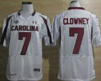 South Carolina Gamecocks #7 Jadeveon Clowney White NCAA Jersey