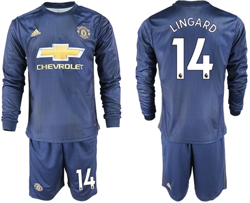 8f7f984c0 Manchester United  14 Lingard Away Long Sleeves Soccer Club Jersey