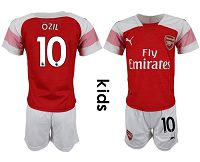 Arsenal #10 Ozil Home Kid Soccer Club Jersey