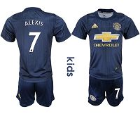 Manchester United #7 Alexis Third Kid Soccer Club Jersey