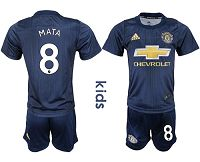 Manchester United #8 Mata Third Kid Soccer Club Jersey