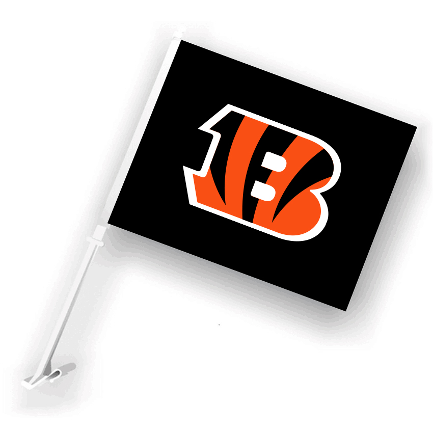 NFL Cincinnati Bengals 30cm*45cm Car Flags (Customized Logo)