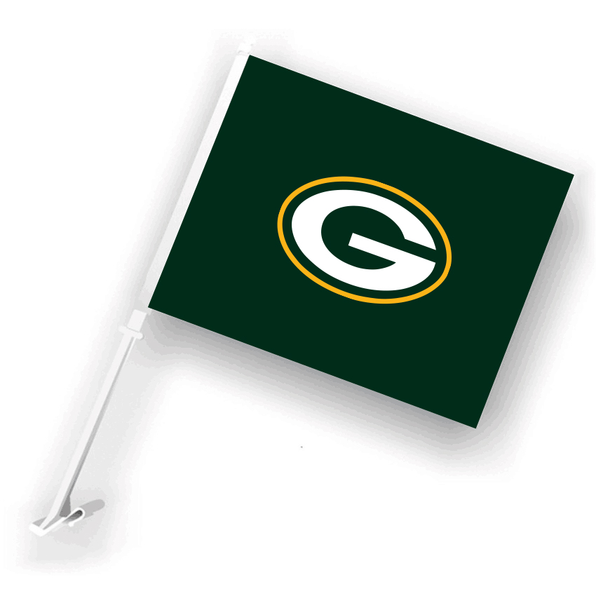 NFL Green Bay Packers 30cm*45cm Car Flags (Customized Logo)
