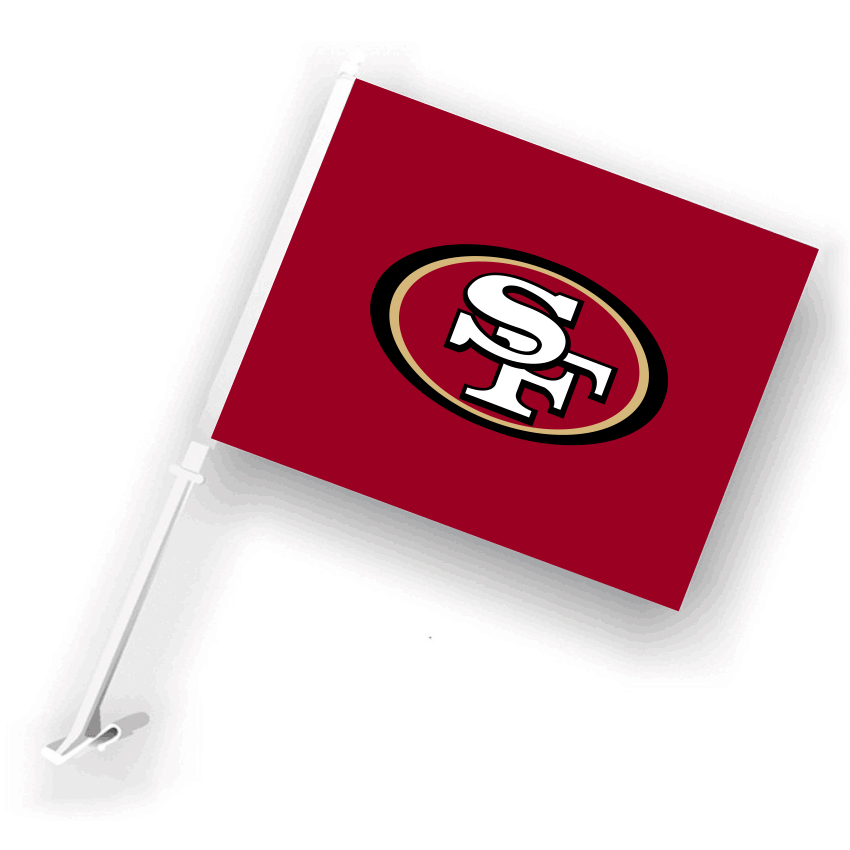 NFL San Francisco 49ers 30cm*45cm Car Flags (Customized Logo)