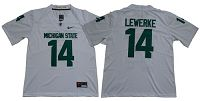 Michigan State Spartans #14 Brian Lewerke White Limited Stitched NCAA Jersey